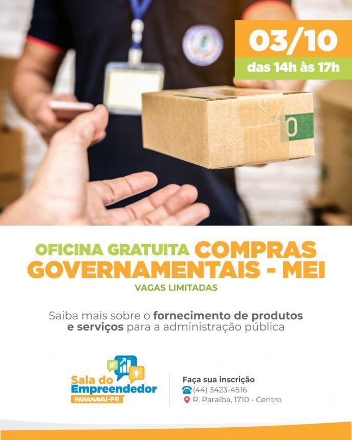 Oficina de Compras Públicas  Sala do Empreendedor de Paranavaí
