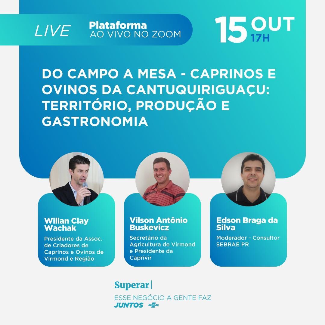 Live: Caprinos e Ovinos da Cantuquiriguaçu: Território, produção e gastronomia