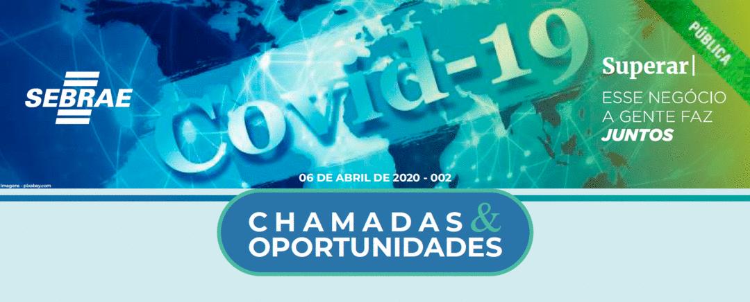 [Covid-19] Novo Boletim de Chamadas e Oportunidades de editais de inovação