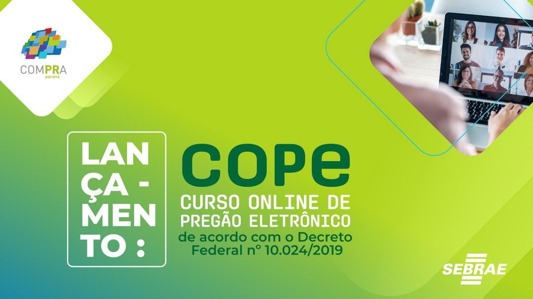 [LIVE] É hoje!!!! 😀 às 17 horas.  Lançamento COPE – Curso Online de Pregão Eletrônico
