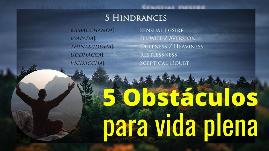 5 obstáculos para uma vida plena
