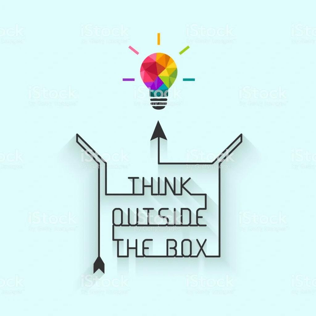 Quantas vezes você foi instruído a pensar fora da caixa?