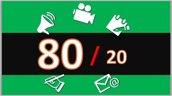 [Conteúdo com vídeo] A Regra 80/20 no Marketing de Conteúdo