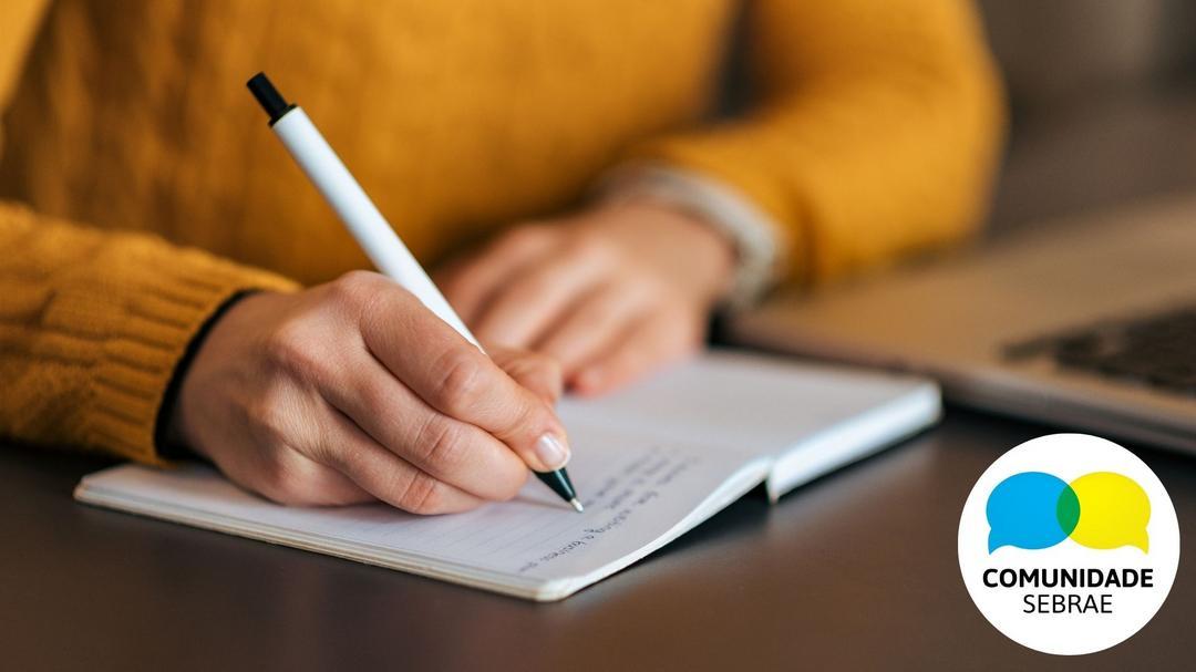 Sim! Você pode escrever aqui na Comunidade Sebrae!