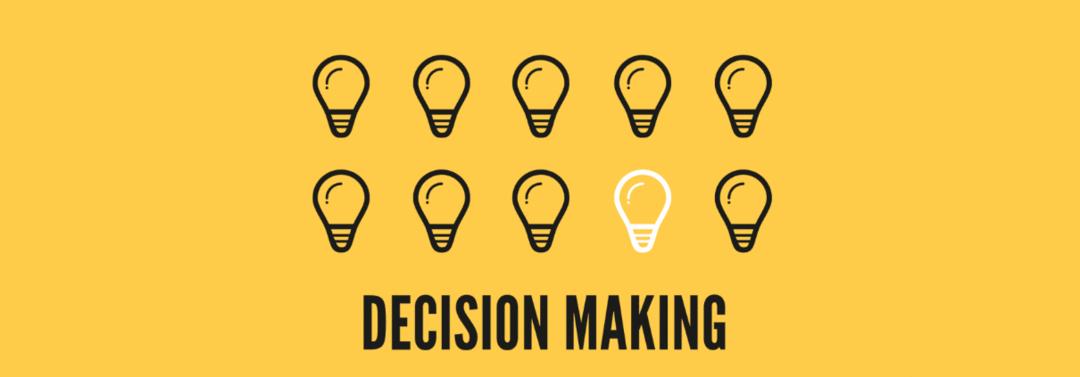 Tomada de decisão para a inovação
