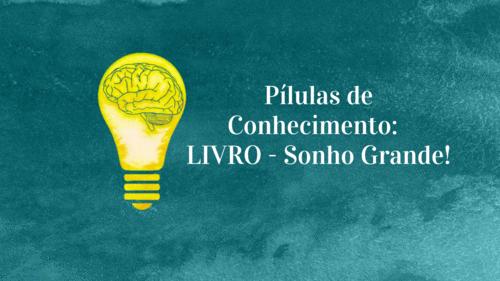Pílulas de Conhecimento: LIVRO - Sonho Grande!