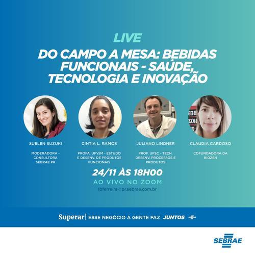DO CAMPO A MESA: As promissoras Bebidas Funcionais - Saúde, tecnologia e inovação a serviço do consumidor