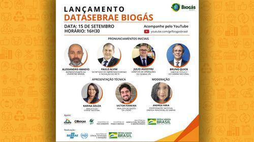 Sebrae e GEF Biogás Brasil lançam DataSebrae Biogás