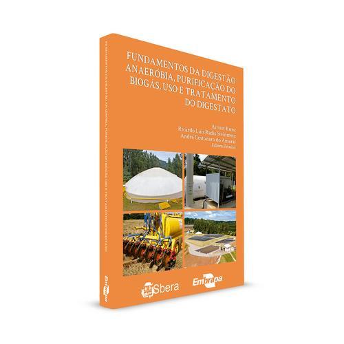 Livro sobre biodigestão anaeróbia, purificação do biogás, tratamento  e uso do digestato
