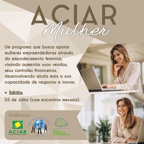 ACIAR MULHER: um programa exclusivo para mulheres empresárias de Realeza.