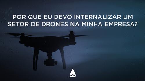 Por que eu devo internalizar um setor de drones na minha empresa?